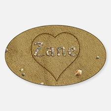 Zane Beach Love Sticker (Oval)