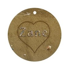 Zane Beach Love Ornament (Round)