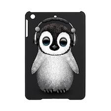 Baby Penguin Dj Wearing Headphones iPad Mini Case