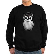 Baby Penguin Dj Wearing Headphones Sweatshirt