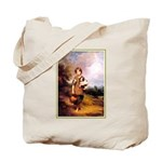 VINTAGE DOG ART Tote Bag