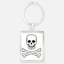 Skull and Crossbones Portrait Keychain