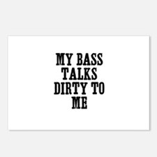 my bass talks dirty to me Postcards (Package of 8)