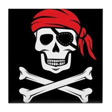 Pirate Skull and Crossbones Tile Coaster