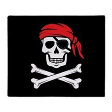 Pirate Skull and Crossbones Throw Blanket