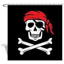 Pirate Skull and Crossbones Shower Curtain