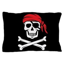 Pirate Skull and Crossbones Pillow Case