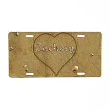 Zachery Beach Love Aluminum License Plate
