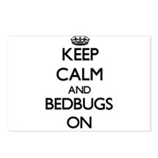 Keep Calm and Bedbugs ON Postcards (Package of 8)
