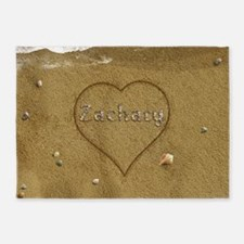 Zachary Beach Love 5'x7'Area Rug