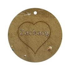 Zachary Beach Love Ornament (Round)