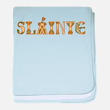 Slainte St. Patrick's Design baby blanket