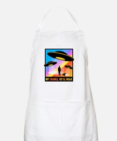 No Thanks, We'll Walk BBQ Apron