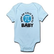 Born on 3.14.15 9:26:53 Baby Body Suit
