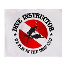 Dive Instructor (Deep End) Throw Blanket