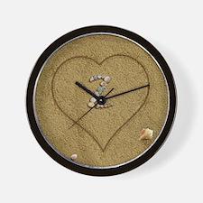 Z Beach Love Wall Clock