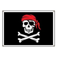 Pirate Skull and Crossbones Banner