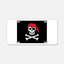 Pirate Skull and Crossbones Aluminum License Plate