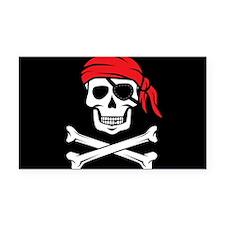 Pirate Skull and Crossbones Rectangle Car Magnet