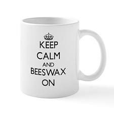 Keep Calm and Beeswax ON Mugs
