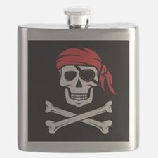 Pirate Skull and Crossbones Flask