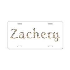 Zachery Seashells Aluminum License Plate