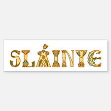 Slainte St. Patrick's Design Bumper Bumper Bumper Sticker