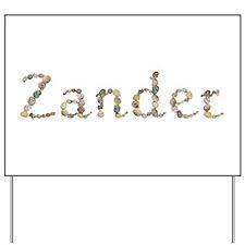 Zander Seashells Yard Sign