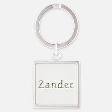 Zander Seashells Square Keychain
