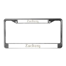 Zackery Seashells License Plate Frame