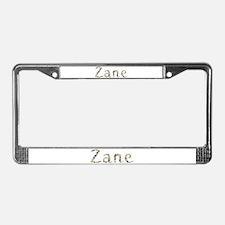 Zane Seashells License Plate Frame