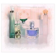 Pastel perfume bottles Poster