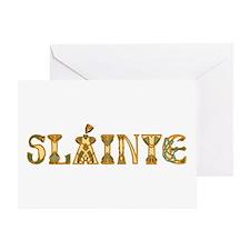 Slainte St. Patrick's Design Greeting Cards