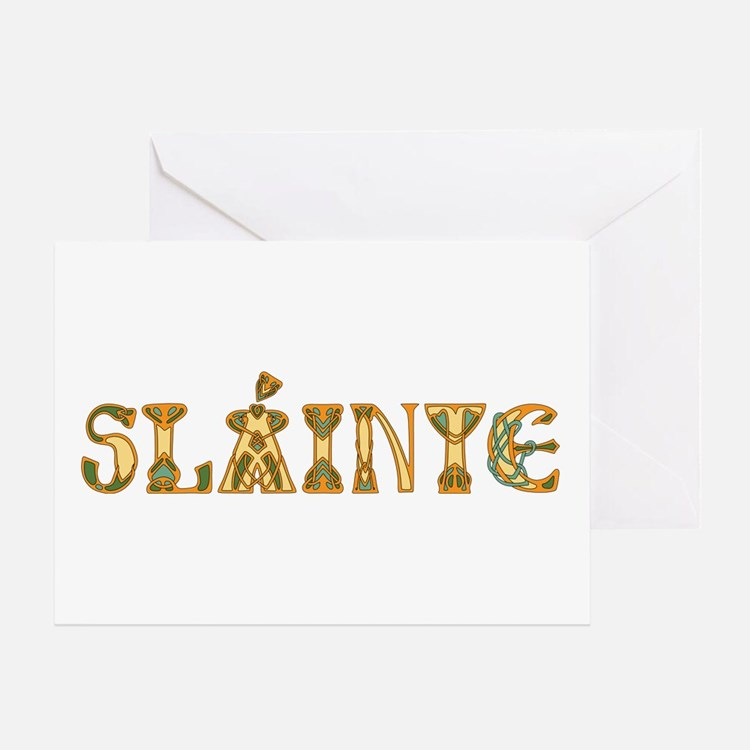 Slainte St. Patrick's Design Greeting Cards