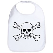 Cute Pirate skull Bib