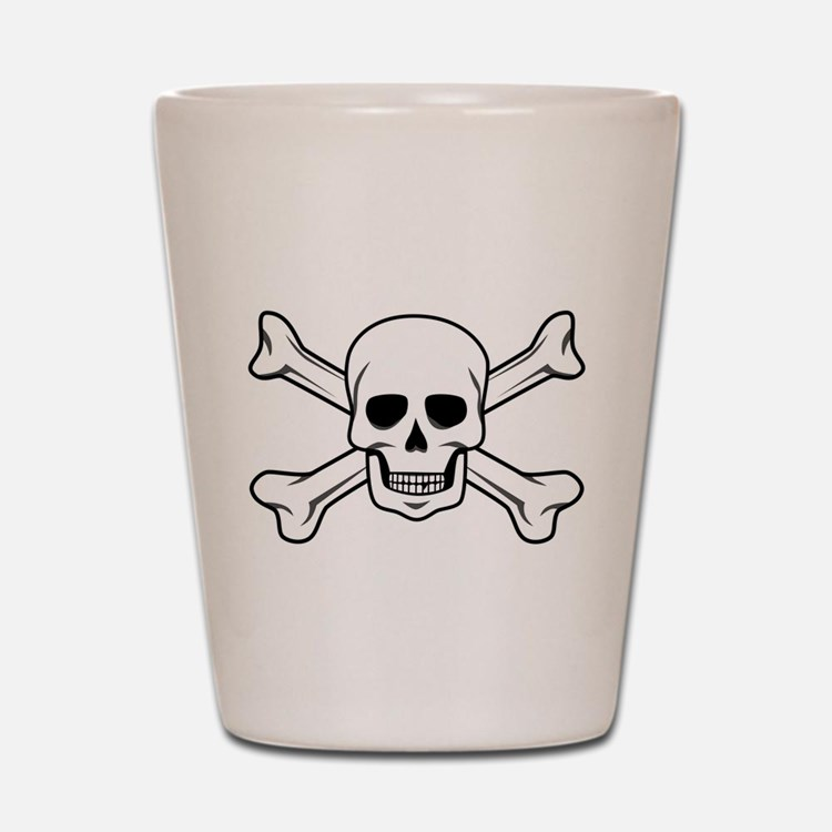 Cute Skull and crossbones Shot Glass