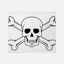 Cute Pirate flag Throw Blanket