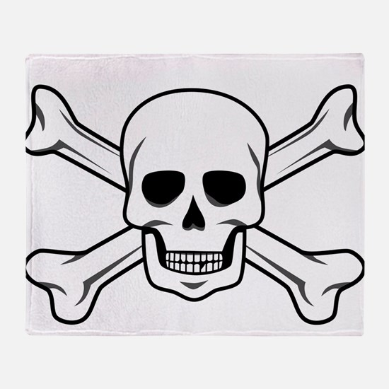 Cute Pirate flag Throw Blanket
