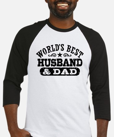 World's Best Husband and Dad Baseball Jersey