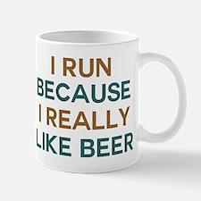 I run because I really like beer Mug