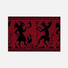 Devil Pattern Magnets