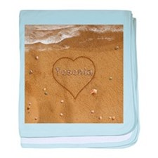 Yesenia Beach Love baby blanket