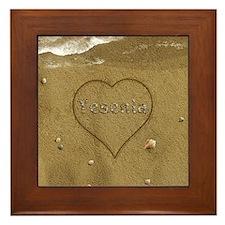 Yesenia Beach Love Framed Tile
