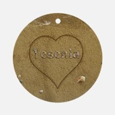 Yesenia Beach Love Ornament (Round)
