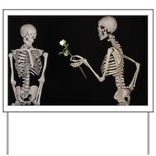 Humourous Skeleton Couple Yard Sign