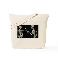 Humourous Skeleton Couple Tote Bag