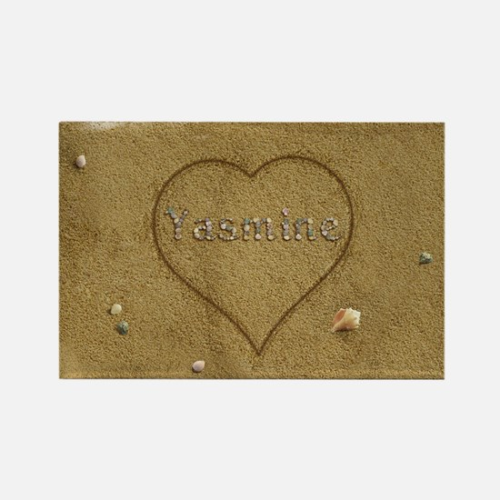 Yasmine Beach Love Rectangle Magnet
