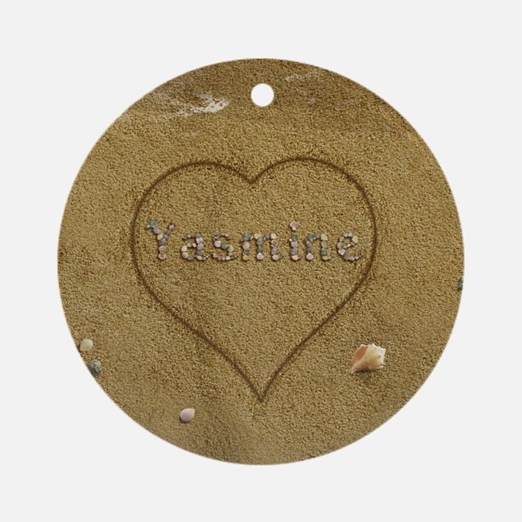 Yasmine Beach Love Ornament (Round)