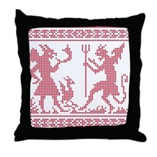 Devil Pattern Throw Pillow