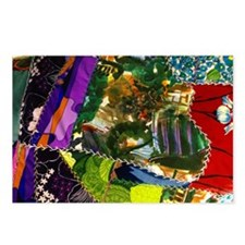 Colorful patchwork fabric Postcards (Package of 8)